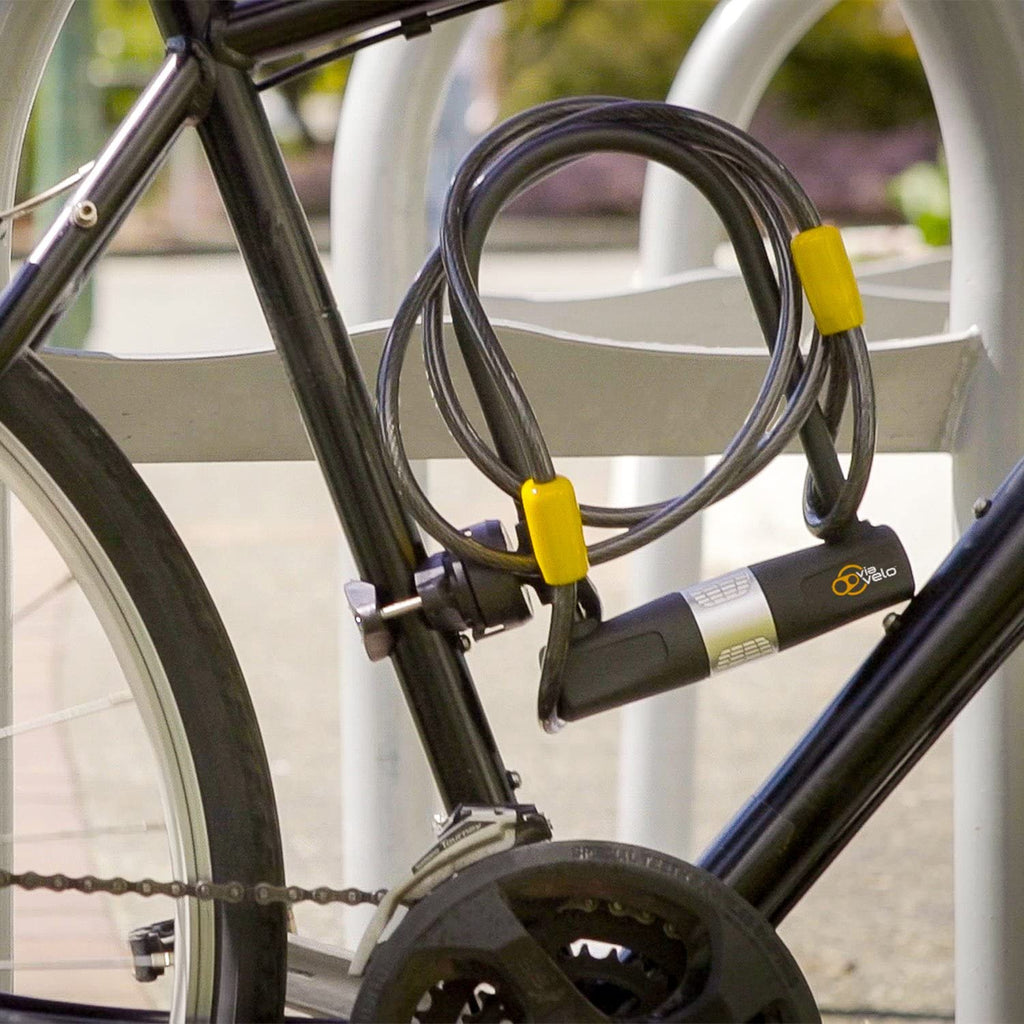 Heavy Duty E-Bike U-Lock with Cable