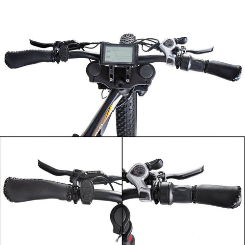 Image of Ecotric Bison Fat Tire E-Bike with LCD Display - Matt Black E-Bike Ecotric