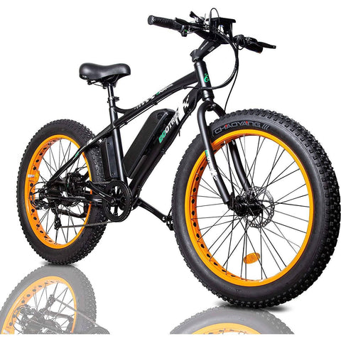 Ecotric 26 inch 36V/12Ah 500W Fat Tire Beach Snow Electric Bike