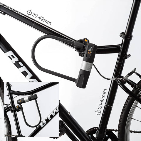 Image of Heavy Duty E-Bike U-Lock with Cable