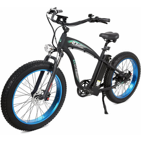 Image of Ecotric Hammer 48V/13Ah 1000W Fat Tire Beach Cruiser Electric Bike