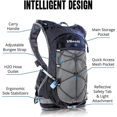 2L Hydration Pack with High Flow Bite Valve - Electricbikepros