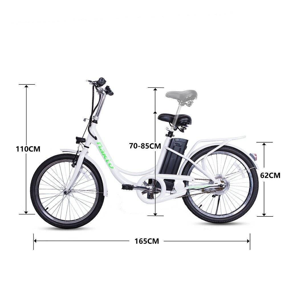 NAKTO Elegance 36V/10Ah 250W Cruiser Electric Bike With Basket