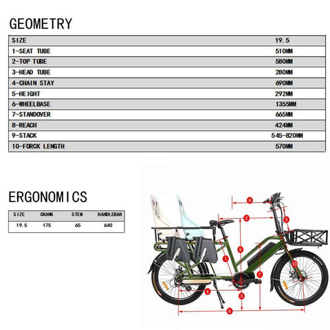Image of Eunorau G20-CARGO 48V/11.6Ah 500W Cargo Electric Bike