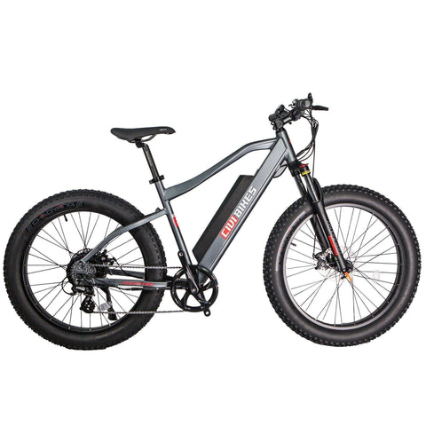 Civi Bikes PREDATOR - Fat Tire Electric Bike E-Bike CIVI BIKES Platinum Gray