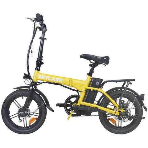 NAKTO Folding Electric Bicycle 16'' Black Skylark E-Bike NAKTO Yellow