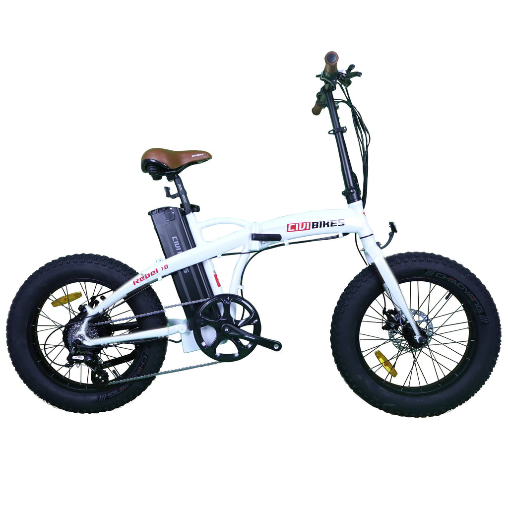 Civi Bikes REBEL 1.0 - Fat Tire Electric Bike E-Bike CIVI BIKES Pearl White
