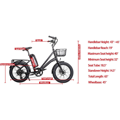 REVI Bikes Runabout 48V/14.5Ah 500W Step-Thru Electric Bike