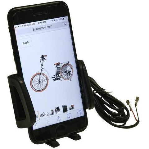 Image of American Electric CELL PHONE HOLDER KIT WITH USB CHARGER - Electricbikepros