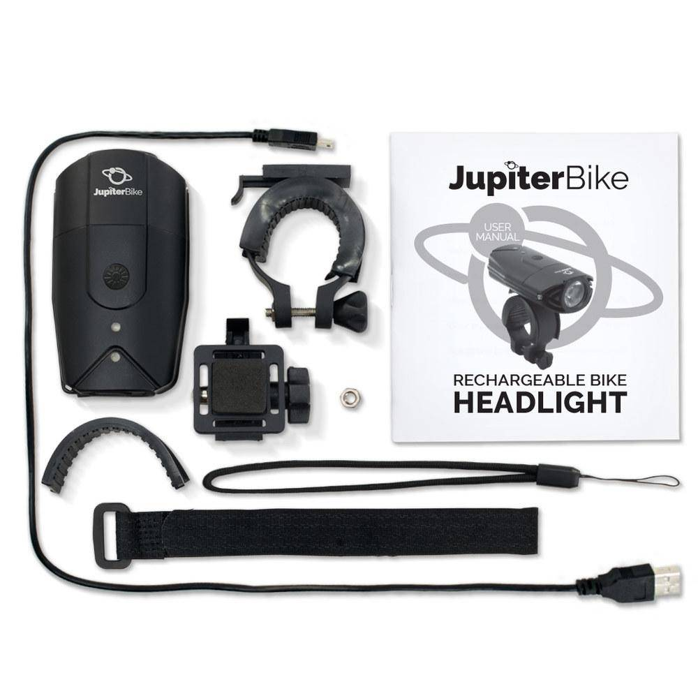 Jupiter Bike LED Extra Bright Rechargeable USB Headlight (900 Lumens)