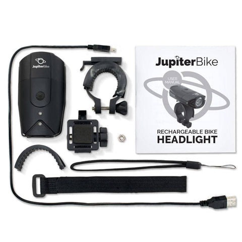Image of Jupiter Bike LED Extra Bright Rechargeable USB Headlight (900 Lumens)