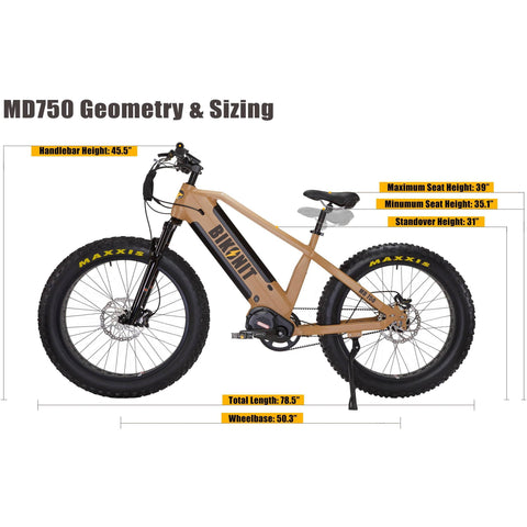 Image of BIKONIT MD 750 E-Bike - Electricbikepros