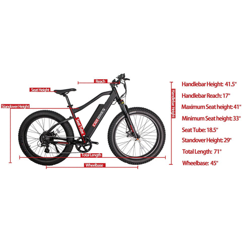 REVI Bikes PREDATOR Fat Tire Electric Bike - 500W 48V - ETD LATE OCTOBER