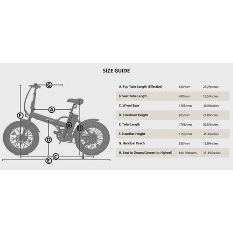 Ecotric 36V/12Ah 500W Portable and Folding Fat Tire Electric Bike