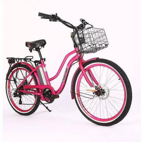 X-Treme Malibu Elite 24V/10.4Ah 300W Step Thru Beach Cruiser Electric Bike