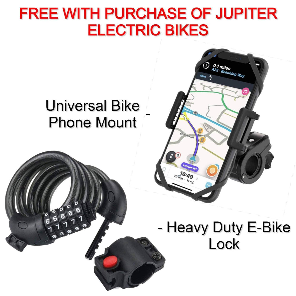 FREE GIFT: Heavy Duty Combination Bike Lock + Universal Bike Phone Mount for Smartphones FREE