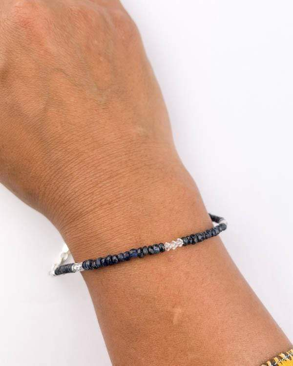 styleinshop Bracelet-Gemstone Blue Sapphire Bracelet, September Birthstone