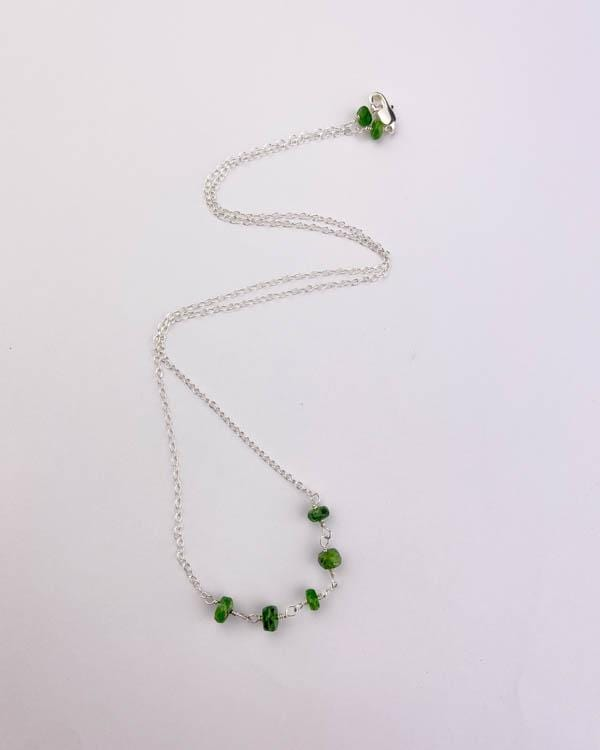 styleinshop Necklace-Gemstone Green Chrome Diopside Beaded Necklace