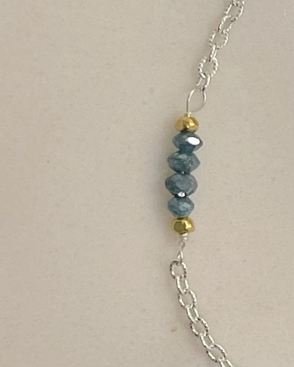 styleinshop Bracelets-Gemstone Precious Blue Diamond April Birthstone Bracelet