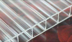 Twin Wall 8mm Polycarbonate Sheet, Clear, Strong Impact and Shatterproof, All-Weather Outdoor Greenhouse Covering - 1 Pack - 2' (W) X 6' (L)