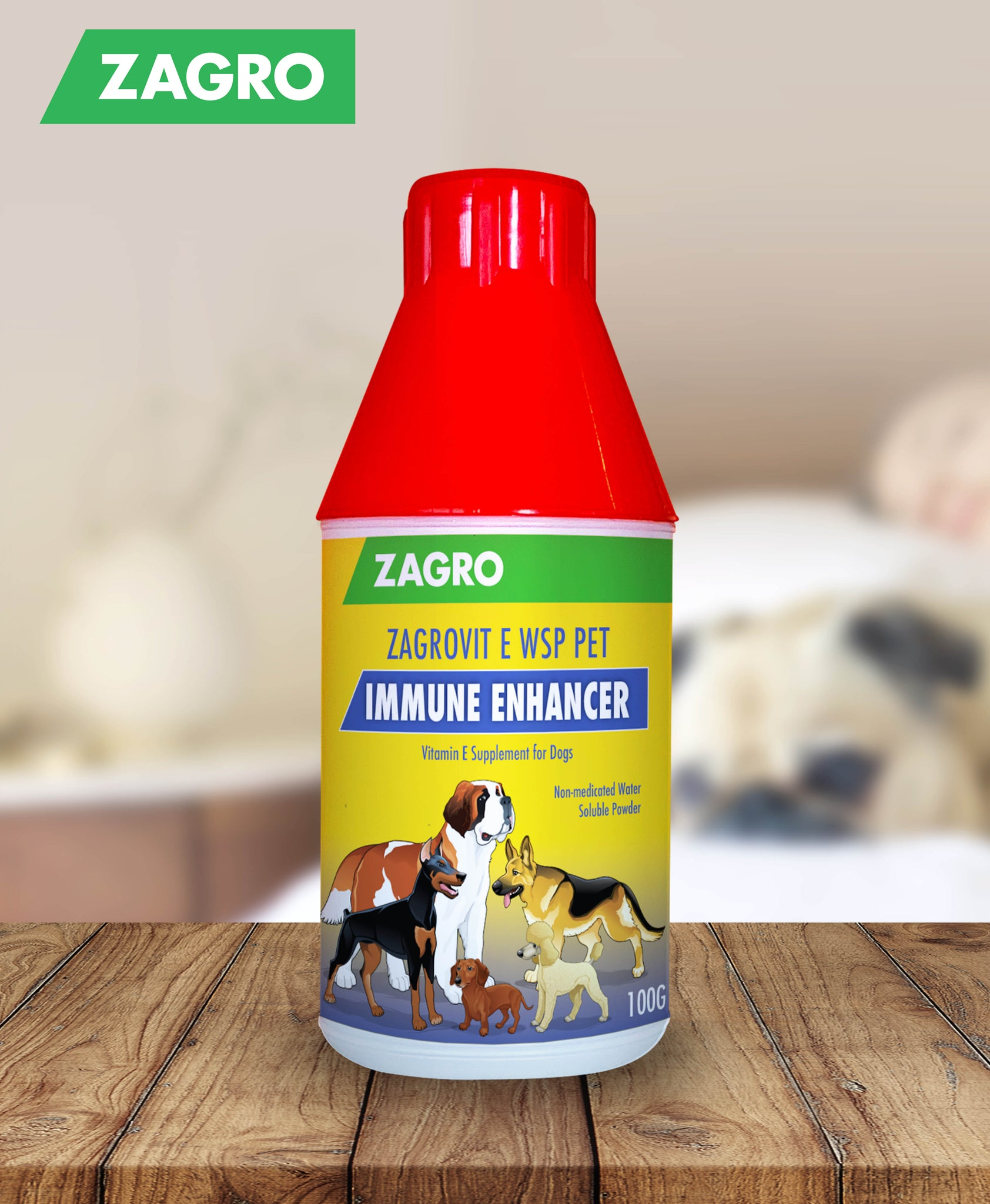 Zagrovit E WSP Pet (Vitamin E Supplement) 100gm