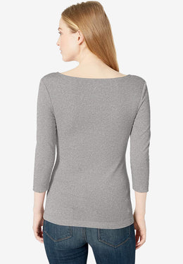Women's Slim-fit Boatneck T-Shirt-Boost Commerce Vertical Product Filter Demo