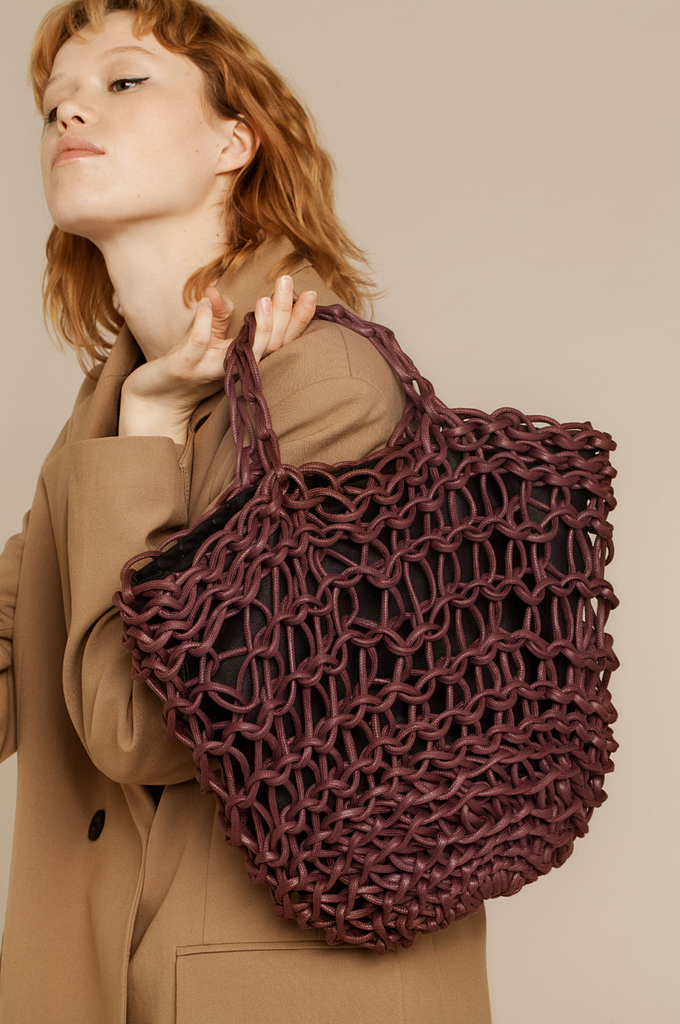 Astrid bag waxed cotton rope