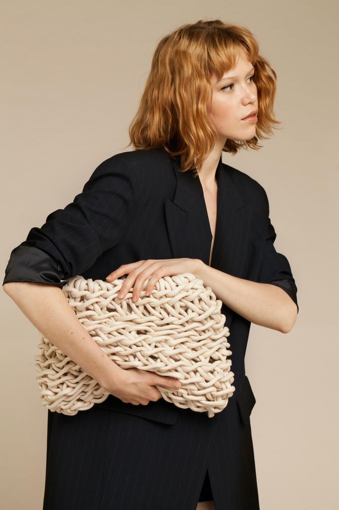 Nora clutch waxed cotton rope