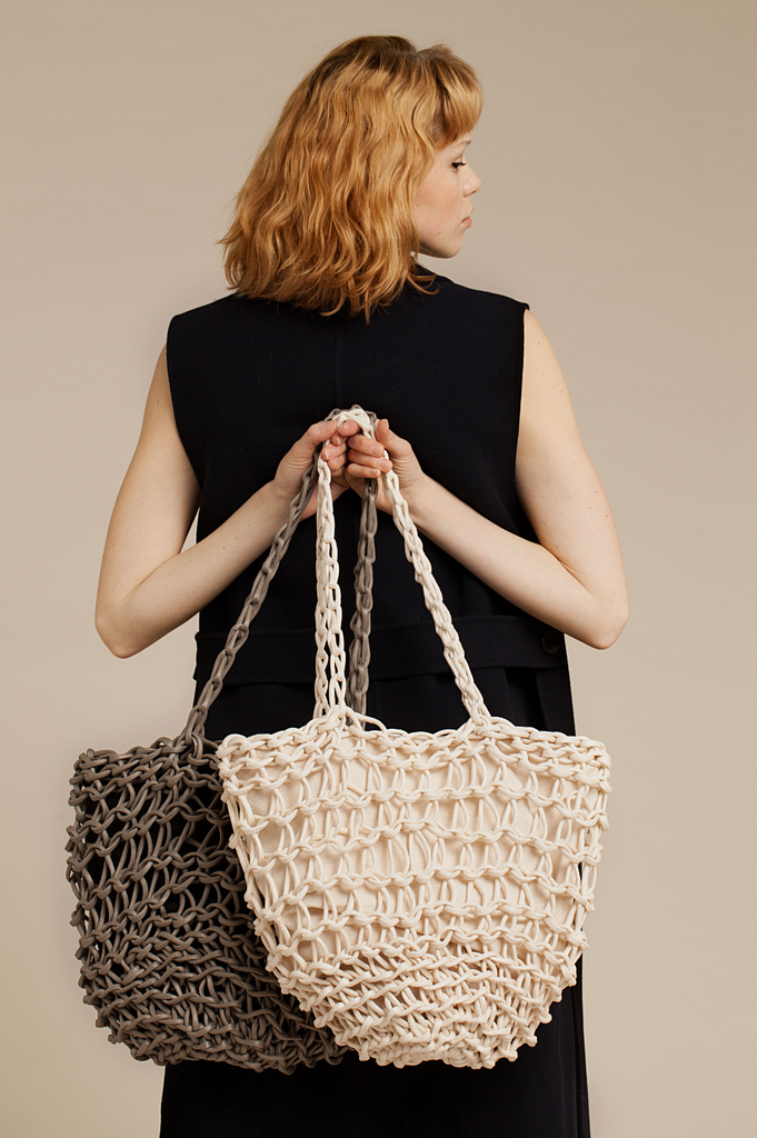 Maite bag waxed cotton rope