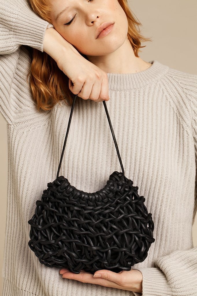 Lena bag waxed cotton rope
