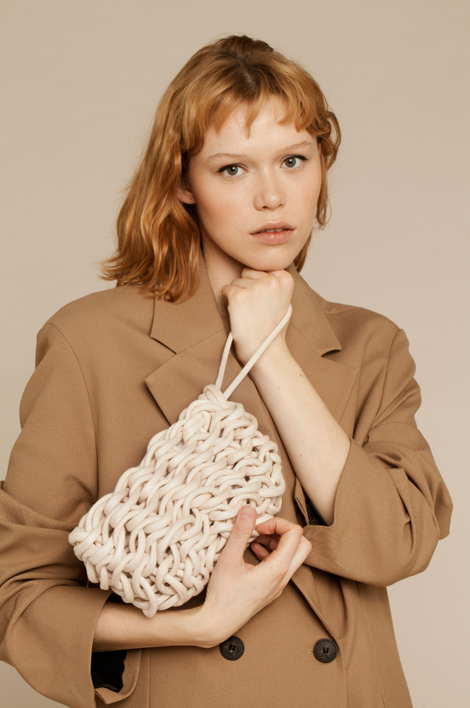 Lina clutch waxed cotton rope