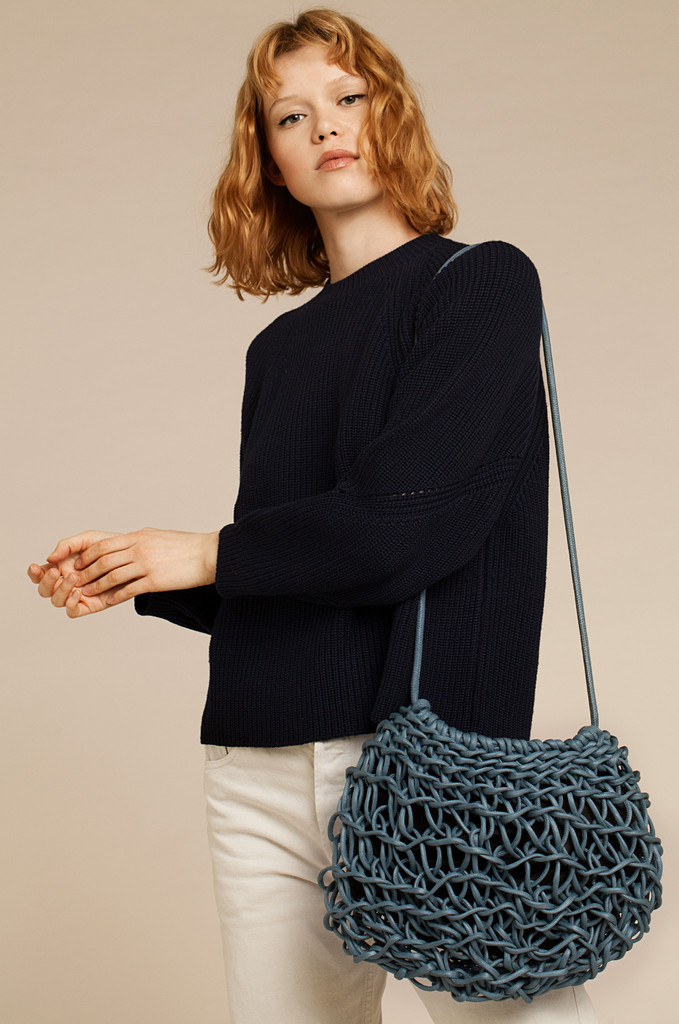 Cecilia bag waxed cotton rope