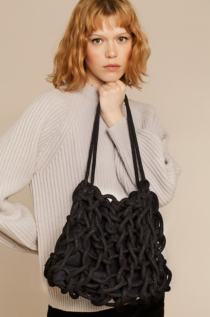Lia bag waxed cotton rope