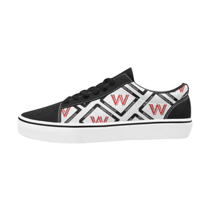 Alphabet Print Lace-Up Sneakers