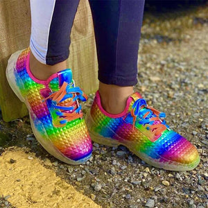 Bright Rainbow Casual Women Sport Shoes