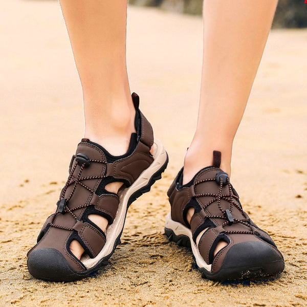 Beach Lightweight Leather Sandals