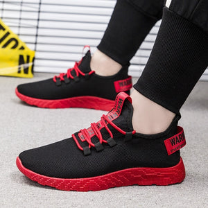 Contrasting Sole Air Mesh Lace up Men Sneakers