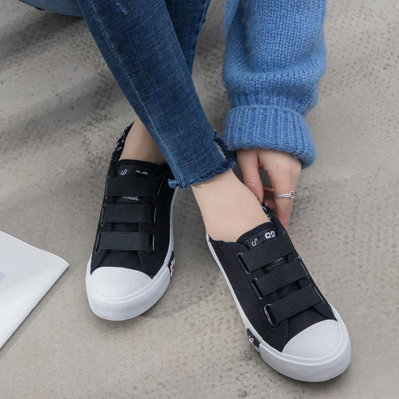 Classic Canvas Sneakers Flat Shoes - Tsubo Shoes