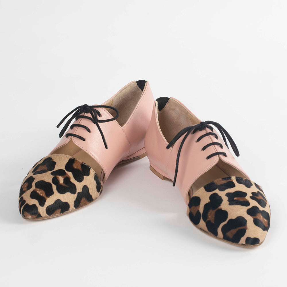 Cheetah Print Oxfords Flats