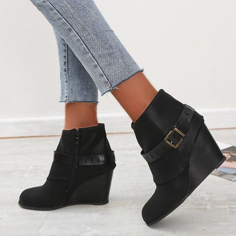 Fashion Zip Wedges - Tsubo Shoes
