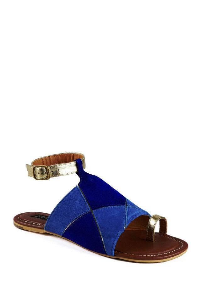 Geometric shapes buckle sandals - Tsubo Shoes