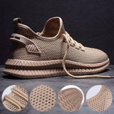 Groove Sole Breathable Casual Men Sneakers - Tsubo Shoes