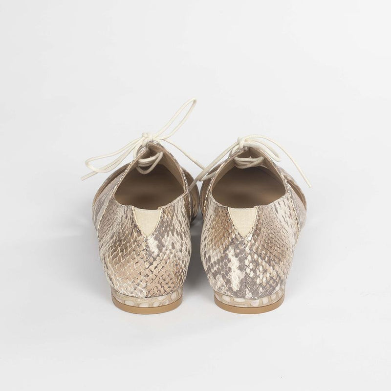 Handmade Crocodile Print Oxfords - Tsubo Shoes
