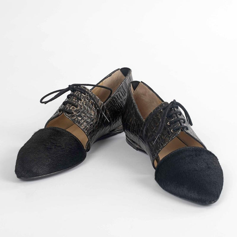 Handmade Suede Tipped Oxfords - Tsubo Shoes