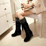 Knee High Wedges Boots - Tsubo Shoes