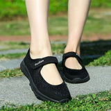 Mesh Breathable Velcro Straps Flats - Tsubo Shoes
