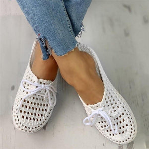 Netted Mule Slippers - Tsubo Shoes