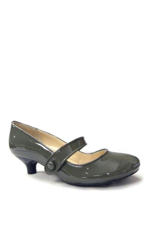 Slip on Low Heel Patent Leather Shoe - Tsubo Shoes