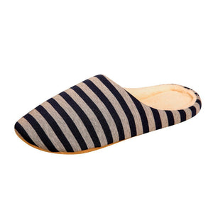Striped Indoors Men Slippers - Tsubo Shoes