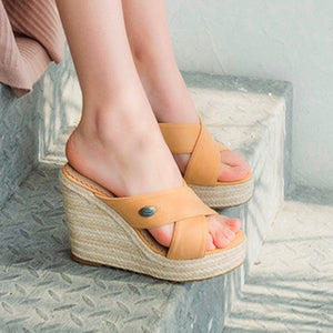 Summer Wedges Slippers - Tsubo Shoes